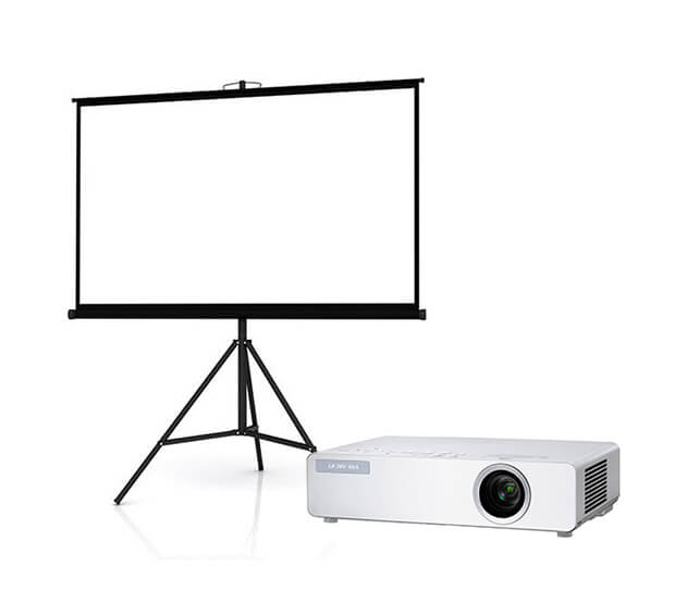 Vidéoprojecteur 3000 lumens  + Ecran de projection 7×5 ft